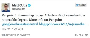 Google's Penguin 5 SPAM Update Launches Today
