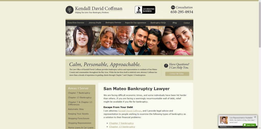 Kendall's FindLaw site