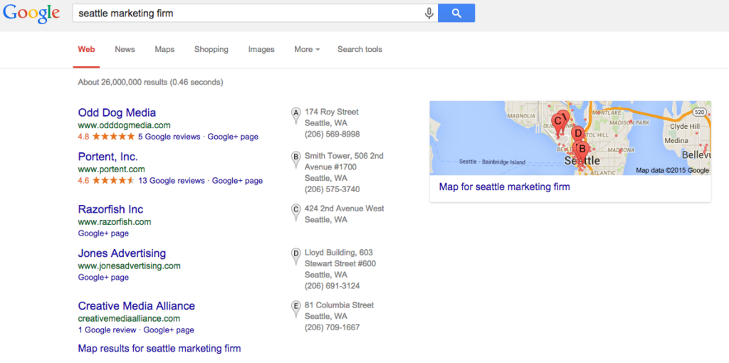 Google Search Seattle Marketing Firm