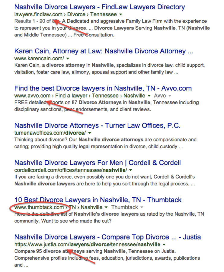 Nashville Lawyer Search Query