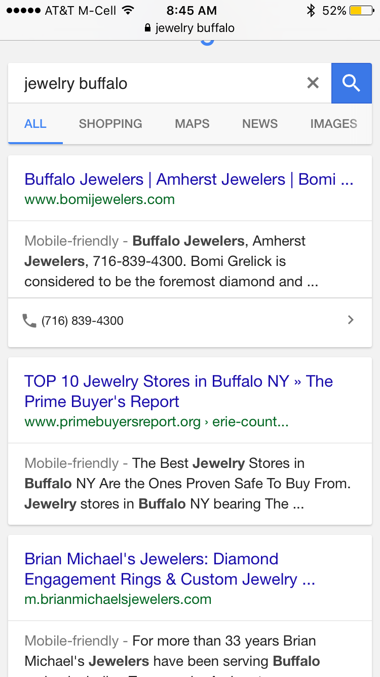 Mobile Organic Click Call Jewelers