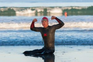 Double amputee Rudy Garcia-Tolson, crushed Paul in the swim.