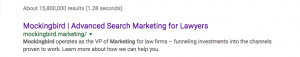 Mockingbird Marketing SERP