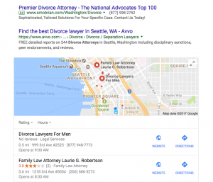 Google moving (some) organic results above the map?