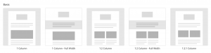 Mailchimp template screenshots