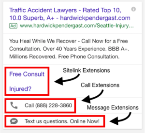 How to Utilize Ad Extensions in the Legal Industry