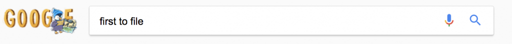 google search of first to file