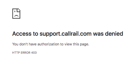 CallRail Won't Let You Submit a Ticket